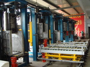 China _ Refrigerator Automated Assembly Line , 6station Cabinet Foaming Lines fournisseur